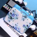 Free Shipping Fashion PU Cosmetic Bags Countryside Flower Pattern Makeup Storage Bag Nice Case for cosmetics