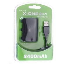 Venta caliente de carga usb 2400 mah reemplazo de la batería de reserva recargable para microsoft para controlador xbox one