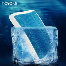 NOYOKE Summer Cooling Gel Memory Foam Pillow Maximum Comfort and Pain Relief Orthopedic Neck Pillow with Washable Pillowcase