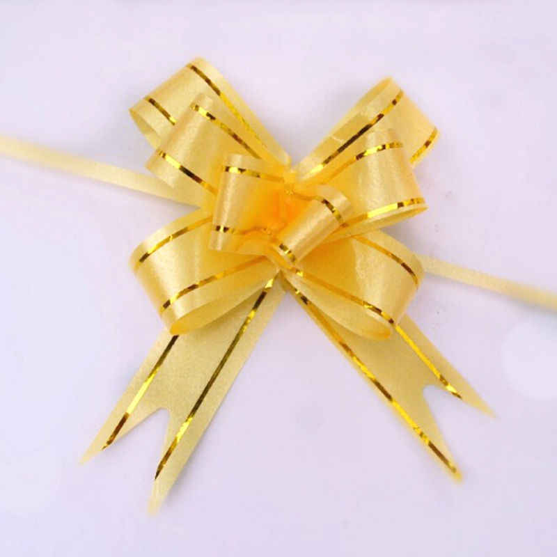 10ชิ้น/ล็อตดึงริบบิ้นดอกไม้บรรจุดึงโบว์ริบบิ้นตกแต่งวันหยุดของขวัญคริสต์มาส