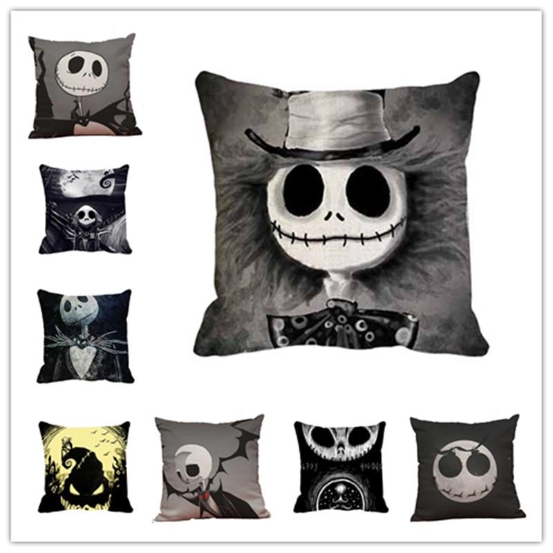 Newly Qualified Cushion Cover Halloween Skull Pillow Case Sofa Waist Throw Home Decor Dropshipping