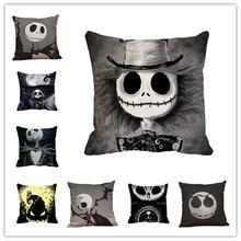 Newly Qualified Cushion Cover Halloween Skull Pillow Case Sofa Waist Throw Cushion Cover Home Decor Dropshipping цены