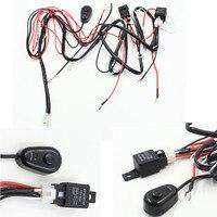 1 шт. Универсальный hareness комплект 1 до 2 светодиодные панели кабель 40A 12 В 24 В реле авто работа вождения противотуманных жгут проводов