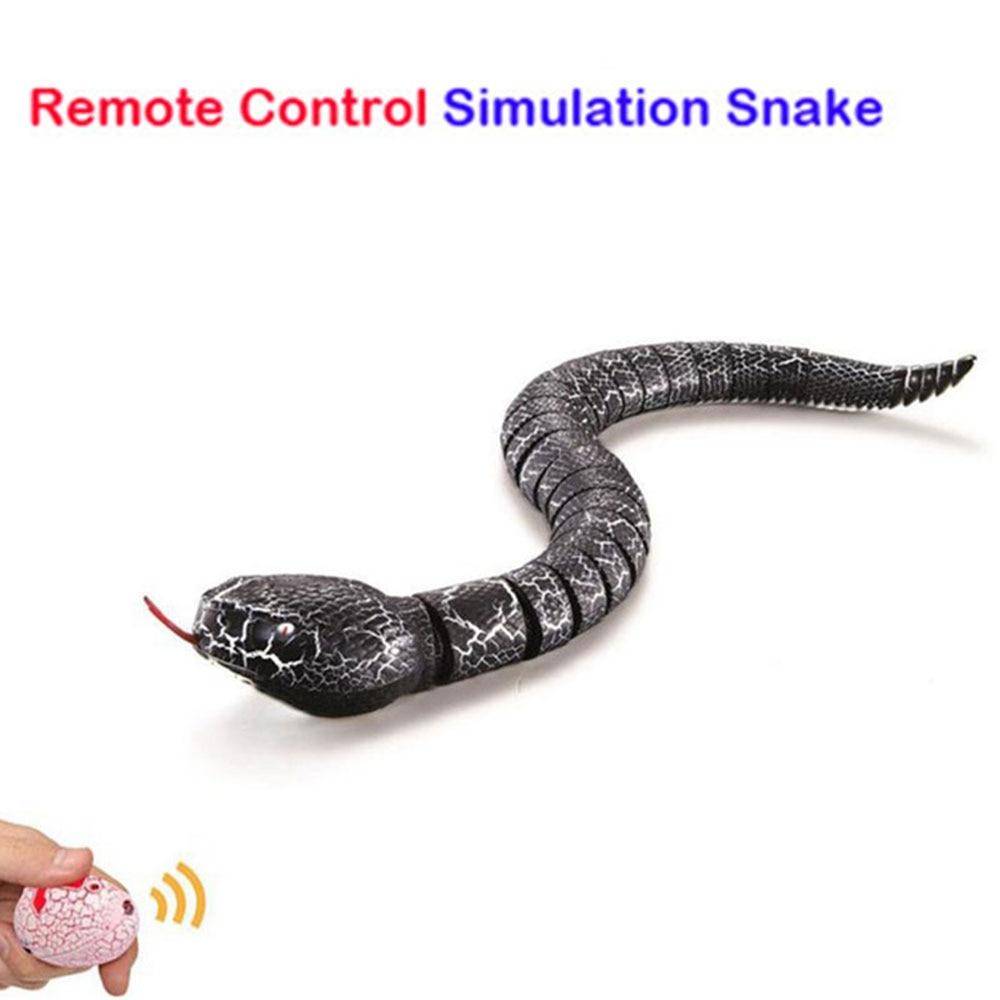Модная новинка, пластиковая имитация, змея, игрушка с инфракрасным управлением, модель змеи, террор, Интересные детские игрушки для розыгрышей