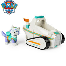 Genuine Paw Patrol Dog Everest Puppy Cars Patrulla Canina Toy cosplay Action Figure Model Marshall Ryder Chase Car
