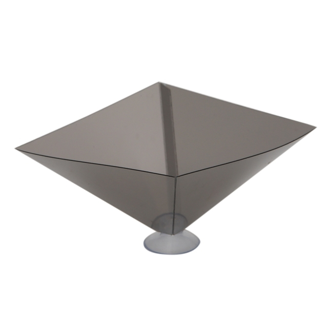 OOTDTY 3D Holographic Projector Pyramid Display With Sucker For 3.5-6Inch Smartphone 2