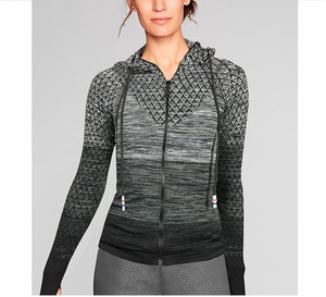 Image 5 - Mermaid Curve Front Zipper hooded Womens Yoga Shirts Long Sleeve Yoga Top Sportswear Quick Dry  Tracksuit Women Running Jacket