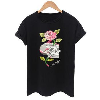 3D Skull print T Shirt Women Stylish Casual Top