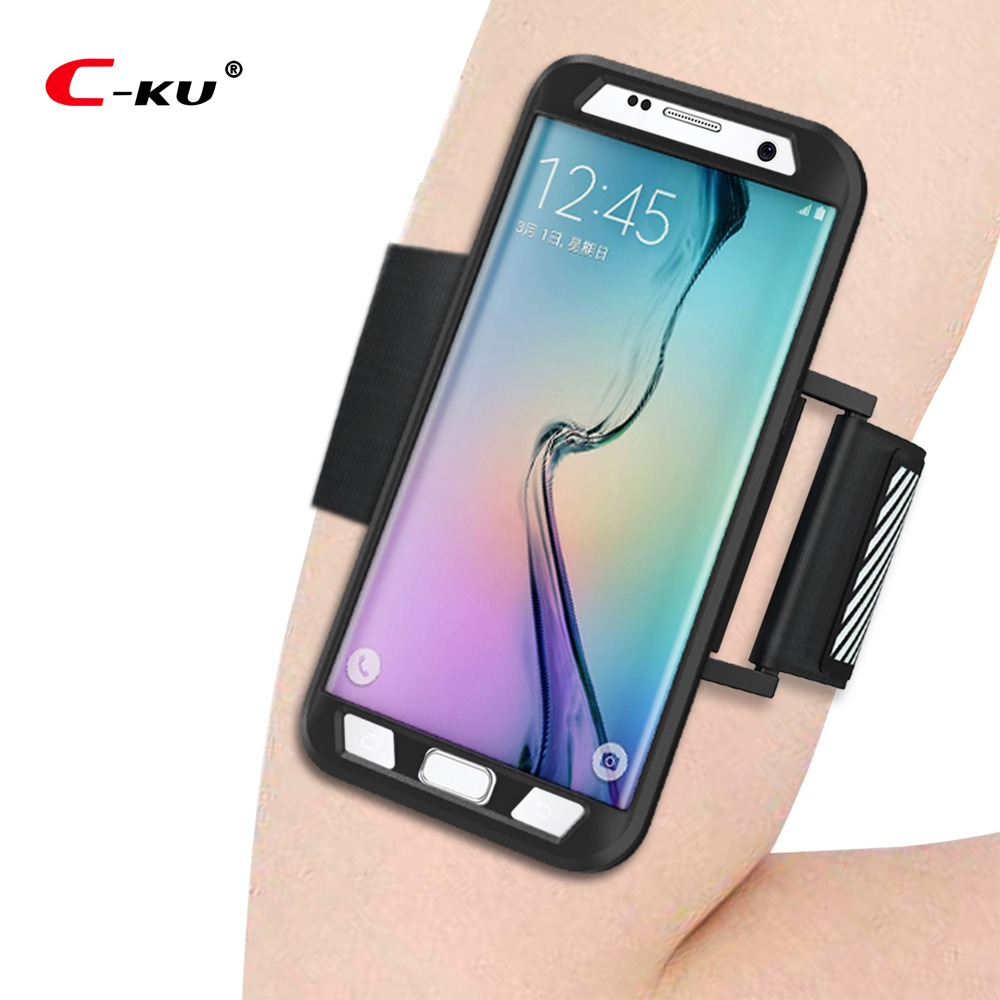 Sports Arm Band + Case for SAMSUNG S7 edge Running Phone Cover Reflective Safe