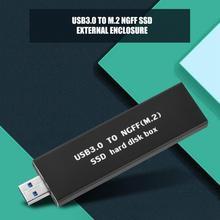 USB3.0 к M.2 NGFF SSD жесткий диск корпус 120 г (черный)