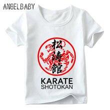 8e64c98999514 Garçons filles japonais Kanji Shotokan karaté imprimer t-shirt enfants d été  à