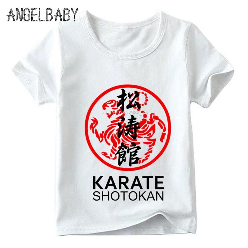 Flight Tracker Jungen/mädchen Japanischen Kanji Shotokan Karate Print T Shirt Kinder Sommer Kurzarm Tops Kinder Casual T-shirt, Hkp718 Quell Sommer Durst
