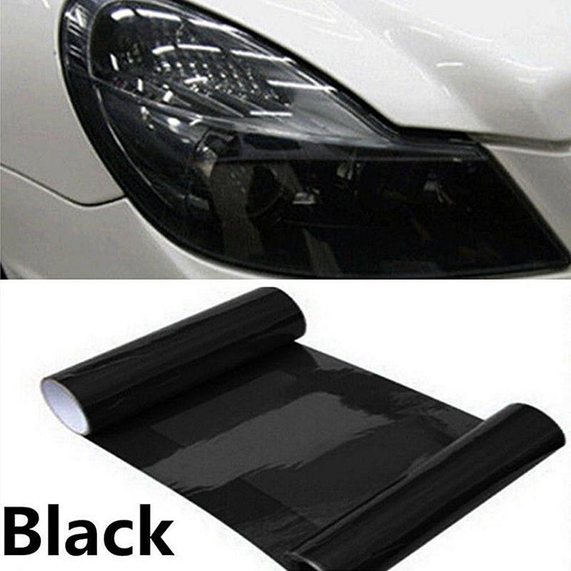 High Quality Dark Smoke PVC Car Headlight Tint Film Taillight Tail Wrap Fog Light Sticker 30CM*100CM