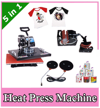 Cheap 5 in 1 New Design Combo Heat Press/Transfer Machine For T Shirt/Mug/Cup/Plate/Cap/Cell Phone/Iphone Case Printer by DHL