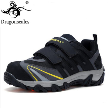 High Quality Men's Work Safety Shoes Steel Toe Cap Fashion Lightweight Breathable Non-slip Wear-resistant Protective Shoes
