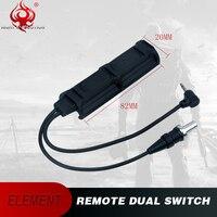 Night Evolution Weapon Flashlight Remote Dual Switch 2 Plug Military Pressure Pad Switch For PEQ Airsoft Light NE07011
