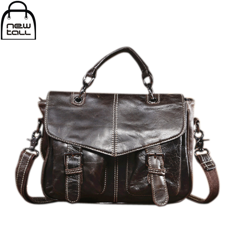 ФОТО [NEWTALL] 2017 Men's Oil Wax Business Package The First Layer Cowhide  Leisure Laptop Bag Cross Section Briefcase Handbag B1085