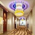 Креативный квадратный светодиодный хрустальный потолочный светильник  подходит для коридоров  веранд и коридоров  лампада LED абажур 20 см ...