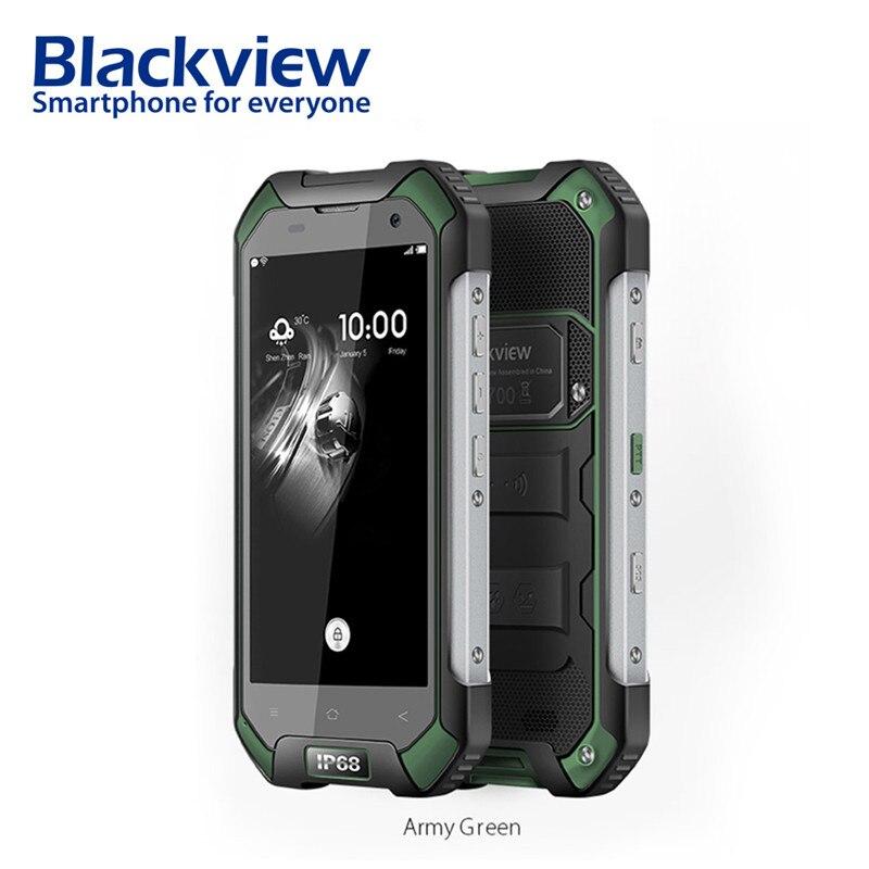 Blackview BV6000s 2 gb 16 gb Mobile Téléphone 4.7 pouces HD 4g Smartphone Android 7.0 Étanche antichoc téléphone MT6735 quad Core 4500mA