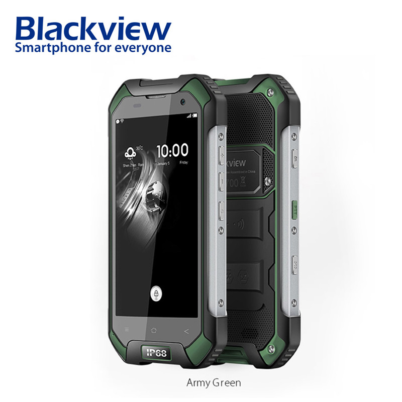 Blackview BV6000s 2 GB 16 GB teléfono móvil 4.7 pulgadas HD 4G Smartphone Android 7.0 impermeable a prueba de golpes teléfono MT6735 quad Core 4500mA