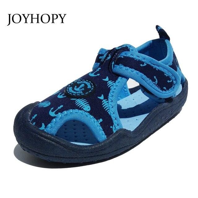 Высокая qiality 2017 детские сандалии Дышащий детская обувь Квартиры вырез Пляж сандалии мальчики девочки Летние сандалии SUW0238