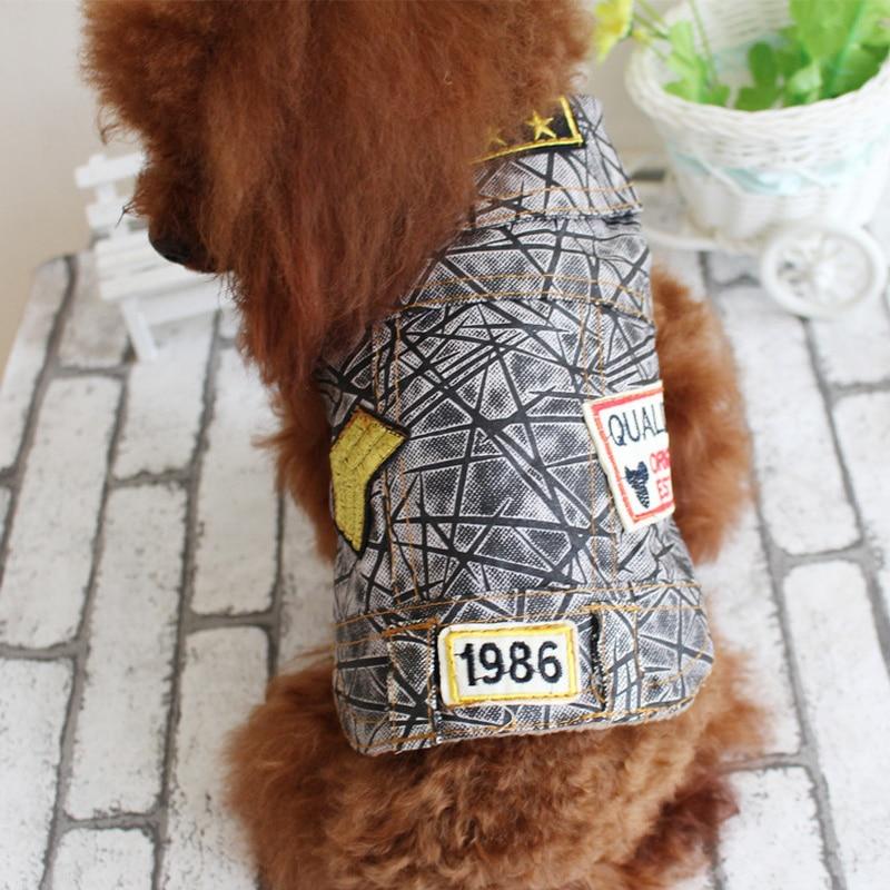 Jacket Retro Fashion Denim Vest Dog Or Cat Clothes Fit Teddy Chihuahua And Poodle Size XS S M L XL XXL Pet Product