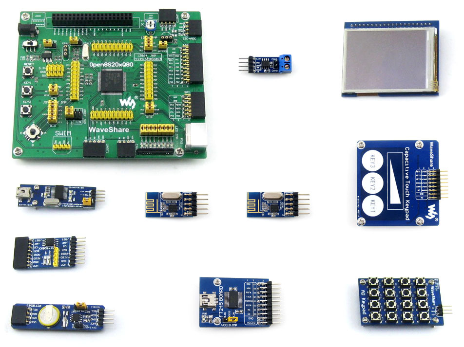 module STM8S208MB STM8S208 STM8S Evaluation Development Board +2.2inch Touch LCD+Capacitive Touch Keypad=Open8S208Q80 Package A lora performance evaluation board test board