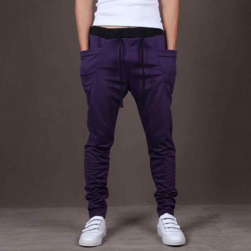 a45698cd3 Men Joggers Sports Sweatpants Big Pockets Gym Trousers Hip Hop Pants Boys  Skateboarding Pants
