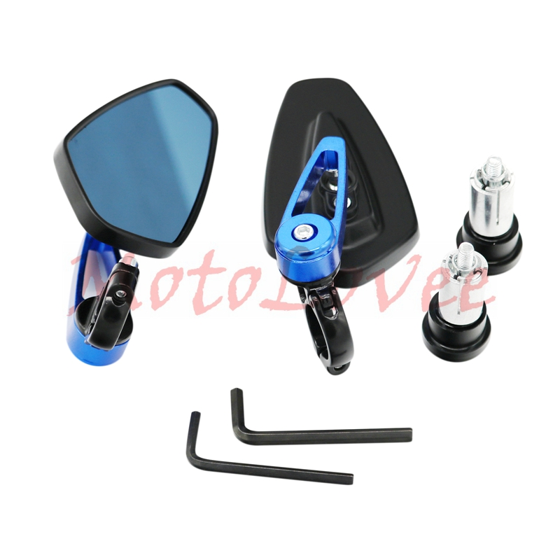MotoLovee Universal 7 8 quot quot 22mm Handle Bar Motorcycle Bar End Mirror Motorcycle Mirror in Side Mirrors amp Accessories from Automobiles amp Motorcycles