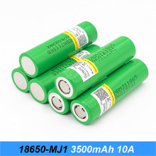 18650 battery 3500mah mj1 for electric bike battery 48v 15ah 20ah and lithium flashlight batteries 10a for Turmera 18650 o24(China)