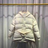 Women's Down Coat 2018 Winter Jacket Women Down Parka Female Loose Warm Overcoat Snow Coat White Duck Down Jacket Women Coat