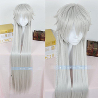39 100cm Long Anime Kuroshitsuji Black Butler Undertaker Under taker Heat Resistant Hair Cosplay Costume Wig