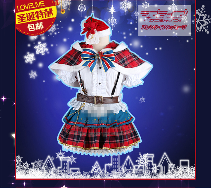 Здесь продается  Anime Aqours Love Live Sunshine Tsushima Yoshiko Cosplay Costume Christmas Woman Autumn Winter Clothing  Одежда и аксессуары