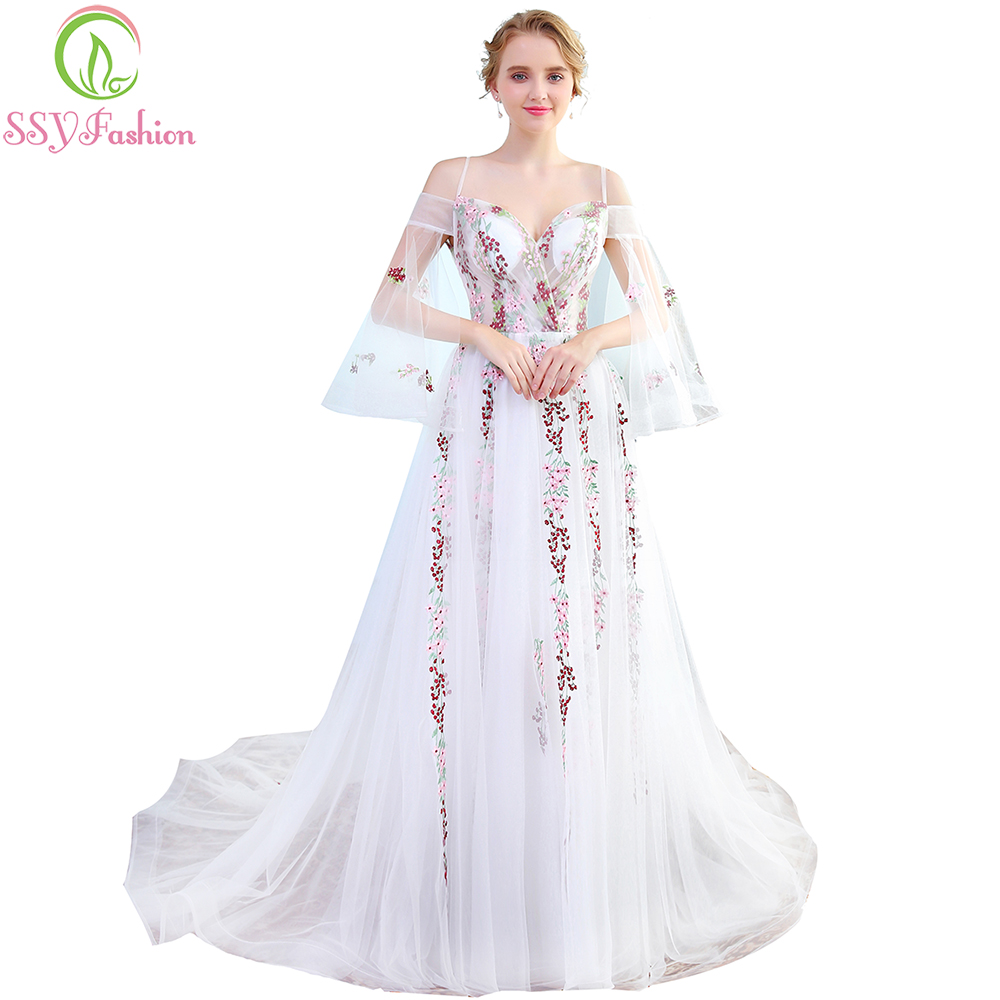Ssyfashion Long Sleeve Wedding Dresses The Bride Elegant: SSYFashion New Sweetheart Lace Flower Evening Dress The