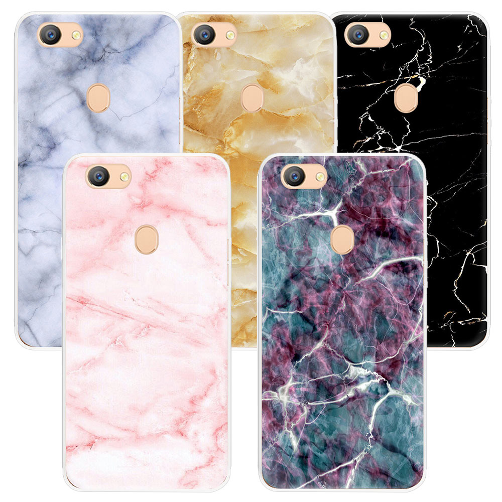 superior quality 4af46 137ab Granite Marble Texture Phone Case for OPPO F5 R15 A83 F7 F3 F1S R11 plus  R9S F1 plus A77 A59 TPU Soft Silicone Back Cover