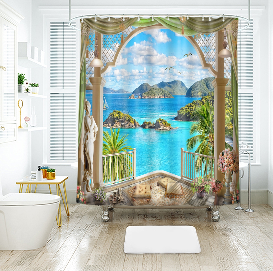Home & Garden Reasonable 3d City Night View 8 Shower Curtain Waterproof Fiber Bathroom Windows Toilet Home & Garden