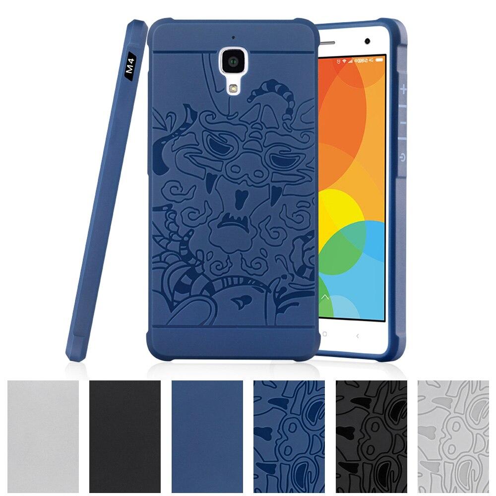 TPU Soft Case for Xiaomi MI 4 Pro MI4 LTE 5 0 Dual 3D Relief Case