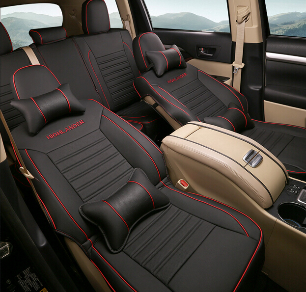 Special Seat Covers Note Comfortable Breathable 7 Set For Toyota Highlander 2014 2015 2016