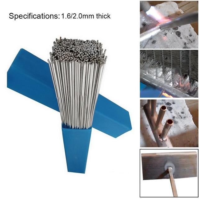 20pcs 1.6/2mm*500mm Low Temperature Aluminum Welding Wire Electrode Flux Core Aluminum Solder Brazing Rod Multi-Tools
