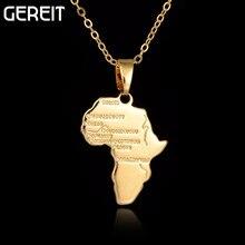 Дешевые Африка Карта Подвеска Цепочки и ожерелья для Для женщин/Для мужчин золотой пластине Цвет Эфиопии ювелирных изделий африканские Карты Brincos хип-хоп пункт