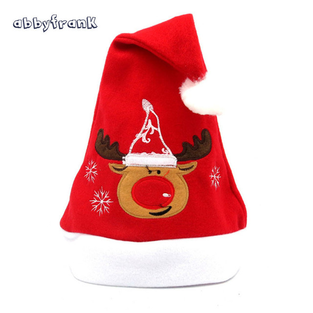 abbyfrank novelty christmas hats santa claus velvet red ornaments hats navidad sombrero decor winter hat xmas
