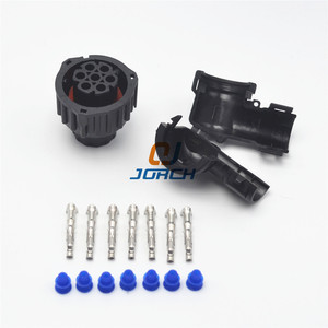Image 3 - 10 sets kits 7 Pin female Auto Sensor connector 967650 1with cable Sheath 965783 1 Waterproof IP67 temp resistance car plug