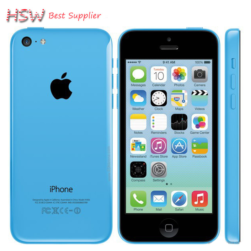 iPhone 5c Original Unlocked Apple iPhone 5C IOS GPS WIFI Dual Core 4.0'' 8GB/16GB/32GB storage iphone5c cellphone Free shipping