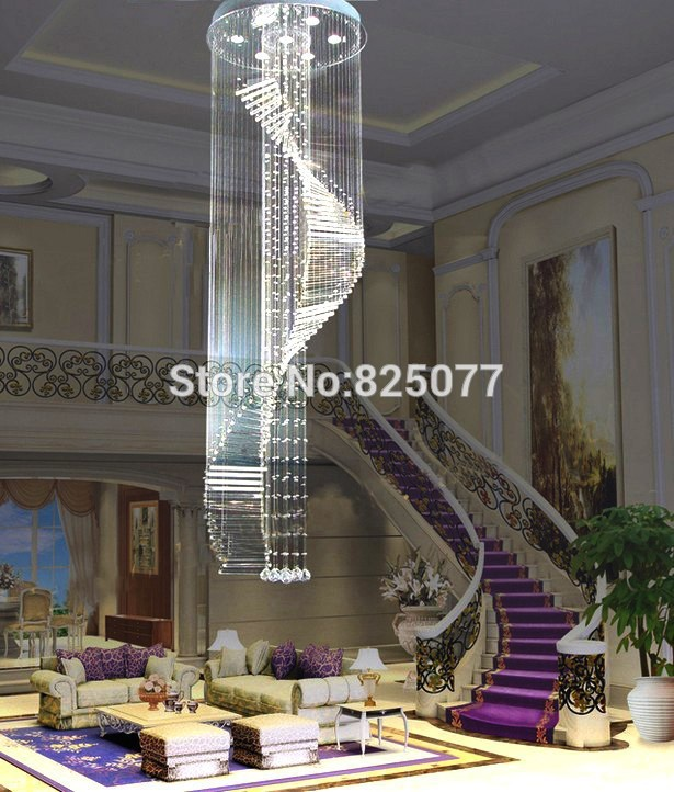 Free shipping 2017 new modern design Dia600*H3250mm home decoration crystal chandeliers,super hotel crystal lights