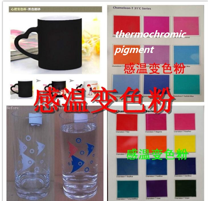 10 Colors Can Choose Thermochromic Pigment, Activate Temperature:31centigrade,1lot=one Color=20gram,free Shipping.
