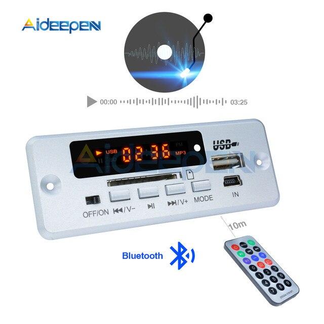Mini 5V MP3 Scheda di Decodifica di Chiamata Bluetooth Modulo di Decodifica MP3 WAV U Disk & TF Card USB Con 2*3W Amplificatore Telecomando
