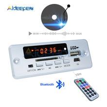 Mini Módulo de decodificación de llamadas con Bluetooth, placa decodificadora de MP3 de 5V, MP3, WAV, u disk y tarjeta TF, USB con amplificador de 2*3 W, mando a distancia