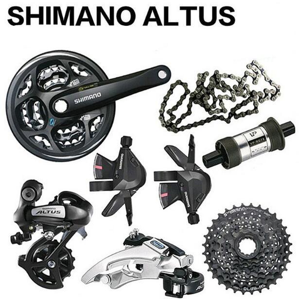 Shimano ALTUS M310 3x8 Speed 24s Groupset MTB Bike Bicycle Crank Derailleur Shifter Cassette Chain 7PCS запчасть shimano claris 2403 3x8 ск efd2403f