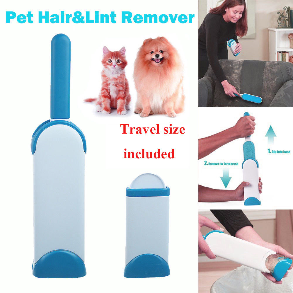 Magic-Clean-Reusable-Self-Cleaning-Pet-Hair-Brush-Set-Double-Lint-Remover-Fur-Scrub-Clothes-Bag