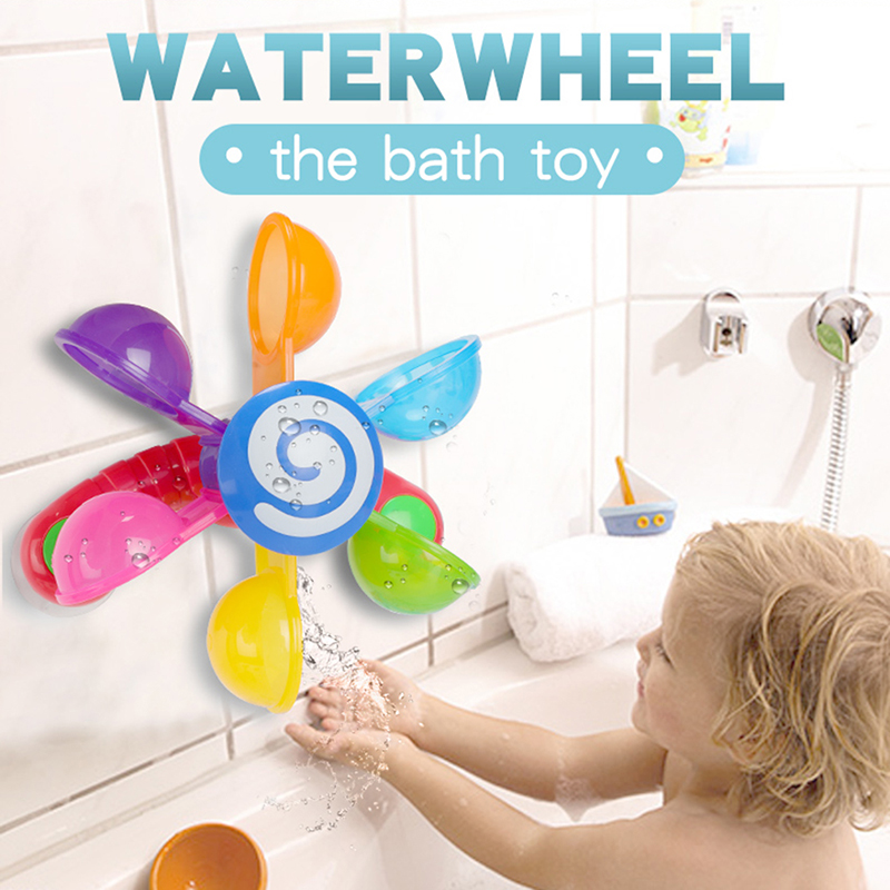 Baby Bath Toys Play In Scoop Water Mini Windmill Waterwheel Toddler Bathroom Bathtub Bathing Toy Kids Swimming Pool Games